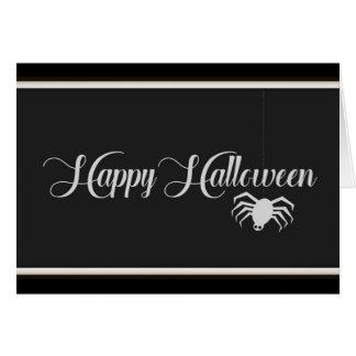 Cartão Tipografia feliz do Dia das Bruxas
