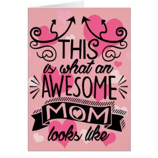 Cartão Tipografia impressionante do dia das mães da mamã