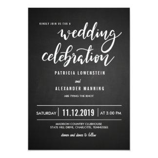 Cartão Tipografia rústica da celebração do casamento do
