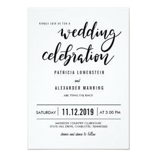 Cartão Tipografia simples minimalista da celebração do