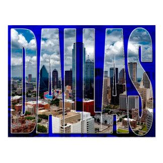Cartão tipográfico da skyline da cidade de Dallas