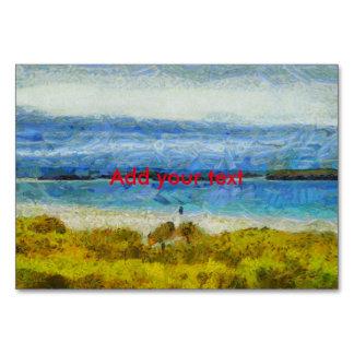 Cartão Tira da terra na água