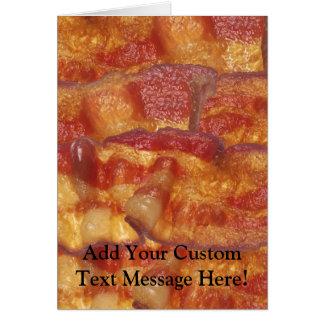 Cartão Tira de bacon fritada