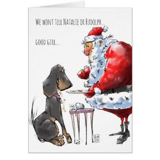 Cartão tirado mão do feriado dos desenhos animados