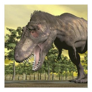 Cartão Tiranossauro irritado - 3D rendem