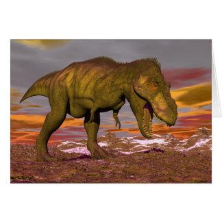 Cartão Tiranossauro que ruje - 3D rendem