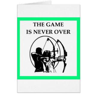 Cartão tiro ao arco