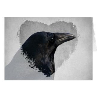 Cartão Tiro do encanto do corvo