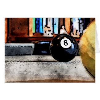 Cartão Tiro para a bola oito