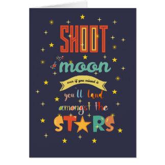 Cartão Tiro para a lua