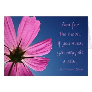 Cartão Tiro para a lua do cosmos