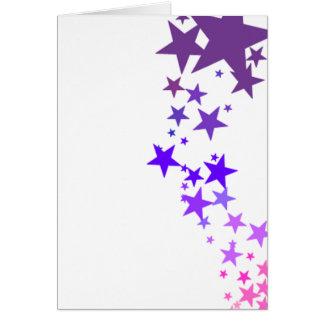 Cartão tiro para as estrelas