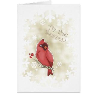 Cartão Tis cardinal a estação