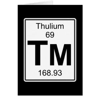 Cartão TM - Thulium
