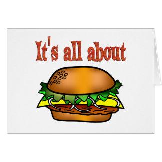 Cartão Toda sobre Hamburger