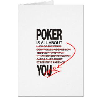 Cartão Toda sobre o póquer
