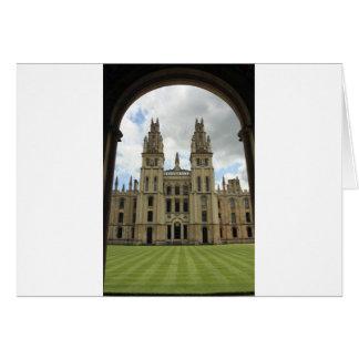 Cartão Todas as almas faculdade, Oxford