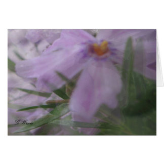 Cartão Todas as flores Cartão-De seda de cumprimento da