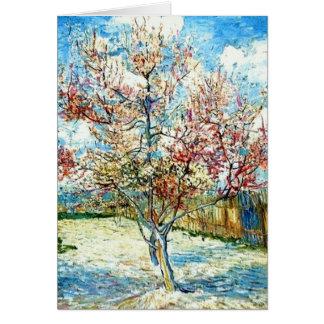 Cartão Todas as flores do pêssego de Van Gogh da ocasião