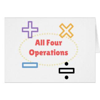 Cartão Todas as quatro operações