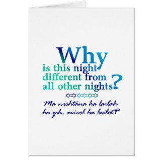 Cartão Todas as quatro perguntas