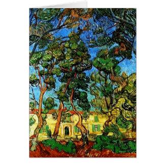 Cartão Todas as terras de Van Gogh da ocasião do asilo