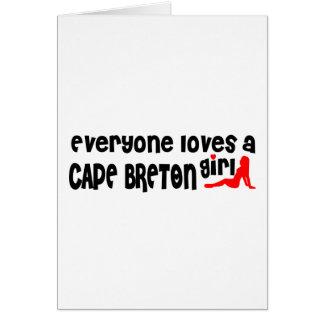 Cartão Todos ama um bretão do cabo
