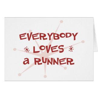 Cartão Todos ama um corredor