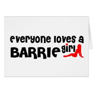 Cartão Todos ama uma menina de Barrie