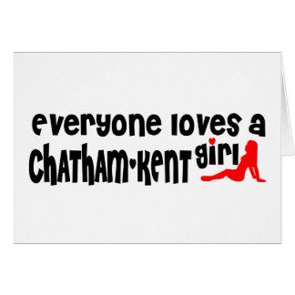 Cartão Todos ama uma menina de Chatham-Kent