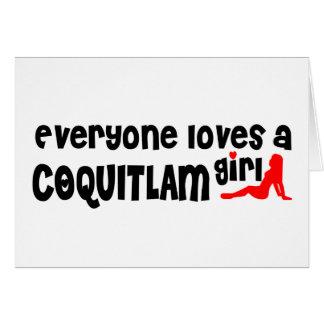 Cartão Todos ama uma menina de Coquitlam
