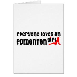 Cartão Todos ama uma menina de Edmonton
