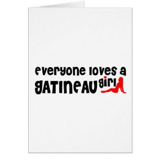 Cartão Todos ama uma menina de Gatineau