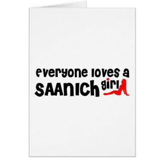 Cartão Todos ama uma menina de Saanich