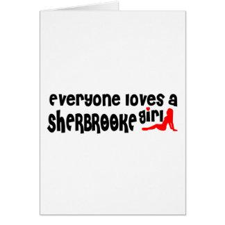 Cartão Todos ama uma menina de Sherbrooke