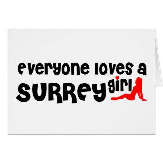 Cartão Todos ama uma menina de Surrey