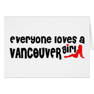 Cartão Todos ama uma menina de Vancôver