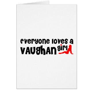 Cartão Todos ama uma menina de Vaughan