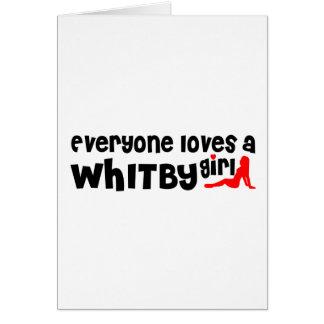 Cartão Todos ama uma menina de Whitby