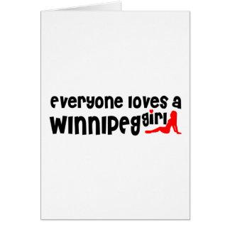 Cartão Todos ama uma menina de Winnipeg