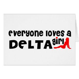 Cartão Todos ama uma menina do delta
