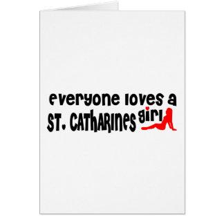 Cartão Todos ama uma menina do St. Catharines