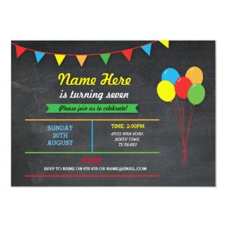 Cartão Todos os balões dos meninos das meninas de festa