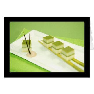 Cartão Tofu do chá verde