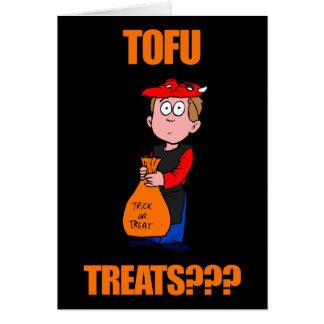 Cartão Tofu engraçado o Dia das Bruxas