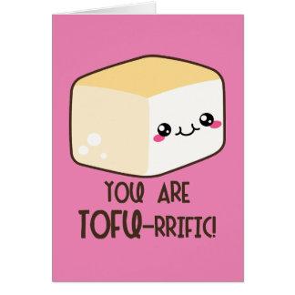 Cartão Tofu-rrific Emoji