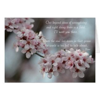 Cartão Tolerância floral da flor de cerejeira