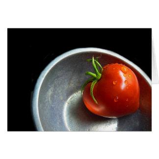 Cartão tomate solitário