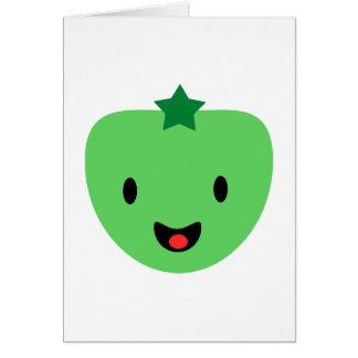 Cartão Tomate verde