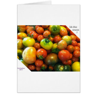 Cartão Tomates da herança